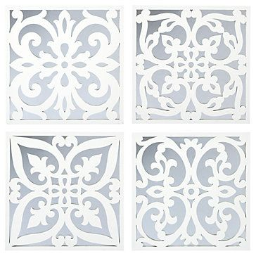 ZGallerie's exclusive Venezia Mirrored Plaques in 4 different scrolling patterns. Now $49.99 each