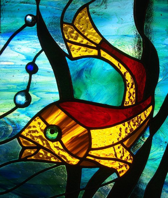 526 best images about stained glass on pinterest dragon for Stained glass fish