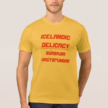 Icelandic Delicacy Súrsaðir hrútspungar T-Shirt - tap, personalize, buy right now!