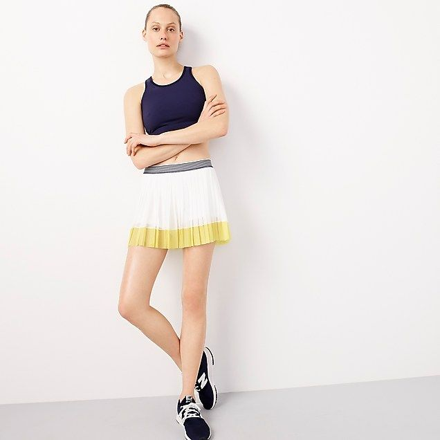 Women S New Balance For J Crew Tennis Skirt In Colorblock Women S Knits Knitting Women Tennis Skirt Clothes