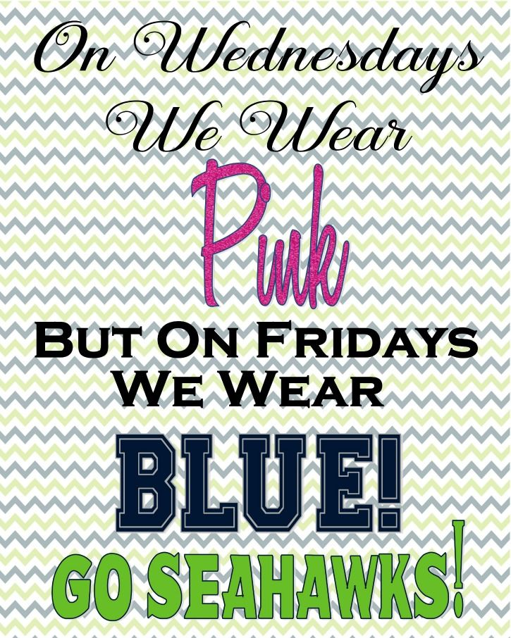 For ALL of US #12-th Woman Seattle Seahawks FanGals A free Inspired Printable!