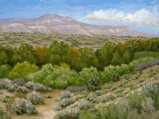 Desert Wash - Dennis Tasa - Oil on linen - 18 x 24 - www.dennistasa.com