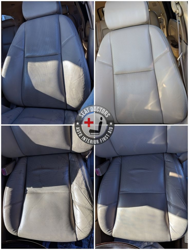 Before after seat doctors leather diy lexus rx 350