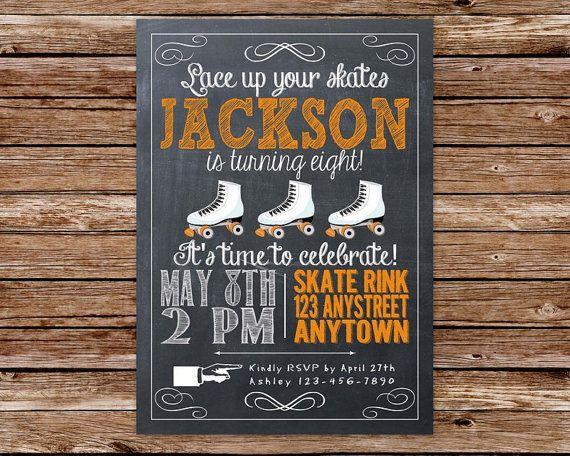 Free Roller Skating Birthday Party Invitations ~ Best roller skating party images birthdays