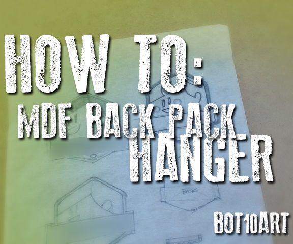 MDF Backpack Hanger