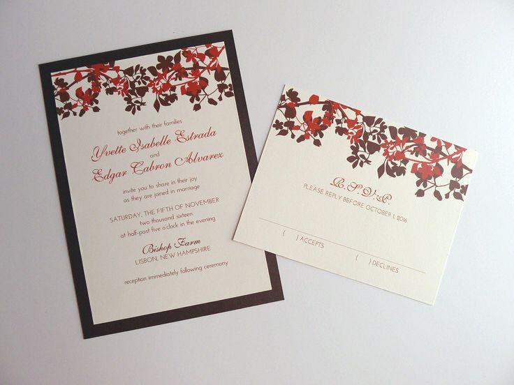 Inviti+di+nozze+ambra+Silhouette+di+PrettyStationeryShop+su+Etsy,+$6,00
