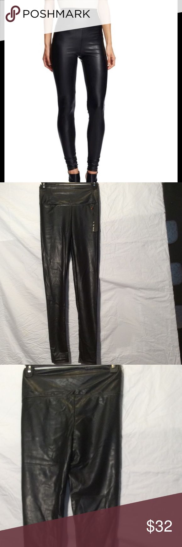 K by Kersh faux leather leggings medium NWT New with tags faux leather legging. Very supple and fitted. Size medium.  Black in color. k by kersh Pants Leggings