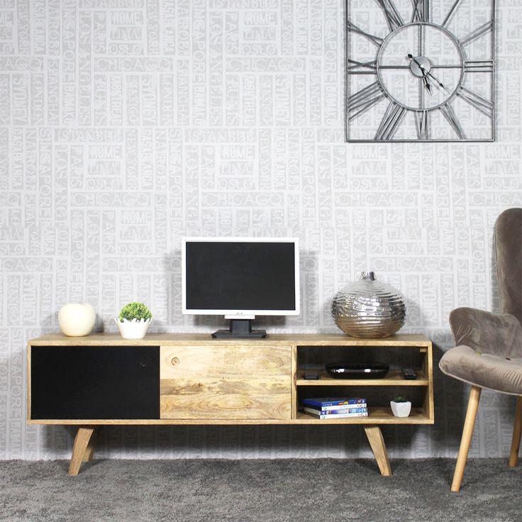 25+ best ideas about meuble tv bois on pinterest | console tv ... - Meuble Tv Bois Massif Design