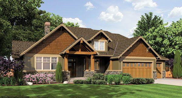 Ashby House Plan Bedrooms Bath Garage Styles Craftsman Ranch Foundation Basement