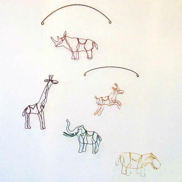 Freehand-created African animals mobile by Artwire Graphics - Petit & Small