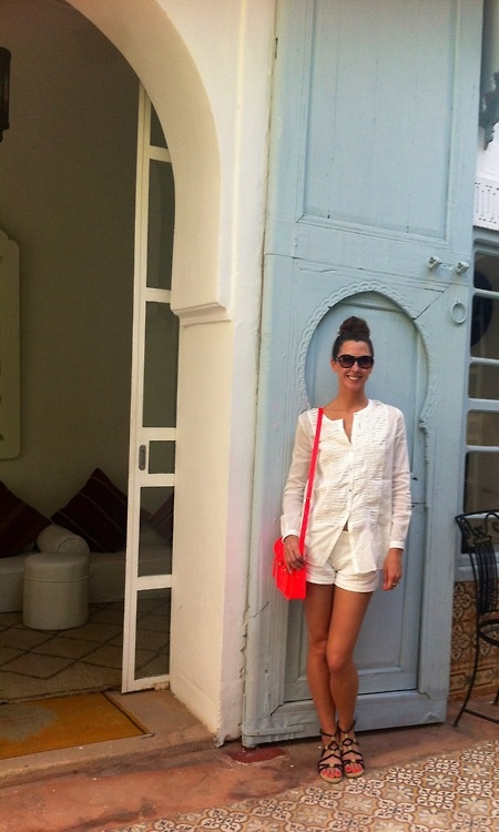 Margo Stilley on her Moroccan vacation in Maxstudio Spring '13