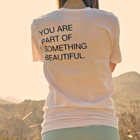 organic cotton minimalist beautiful white yoga t shirt | purusha people