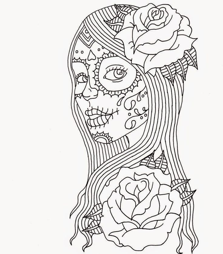 Coloring Pages For Adults Skull : 225 best coloring pages images on pinterest