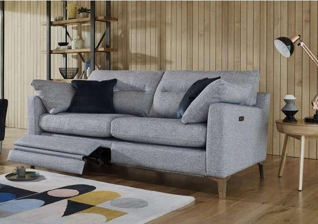 Uniqa 3 Seater Fabric Sofa Furniture Sofa Set Fabric Sofa Power Reclining Sofa