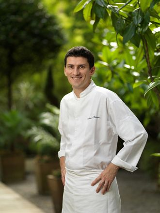 Michelin two star chef Arnaud Bignon of The Greenhouse Restaurant, London.