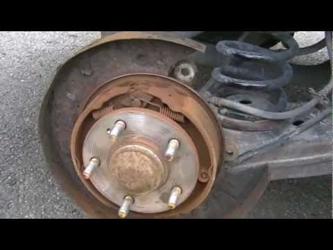 2004 Hyundai Santa Fe rear brake and disc/drum change