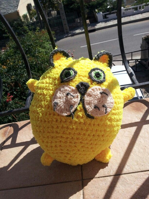 Citron le chat au crochet