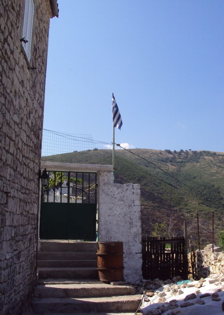 Greek Flag in Himara