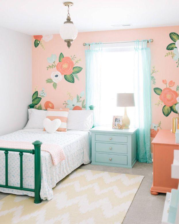 """72 Likes, 1 Comments - Marifetix.com (@marifetix) on Instagram: """"Pastel renkli duvar kağıtları ve mobilyalar ile harika bir genç kız yatak odası dekorasyonu…"""""""