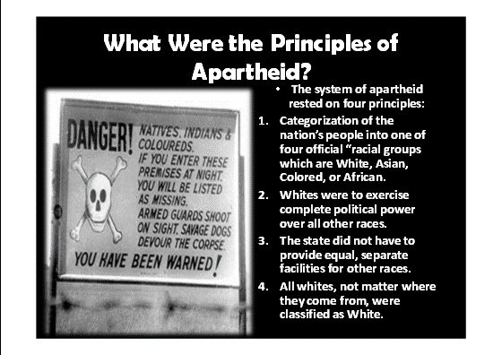 PowerPoint will introduce students to the unfair laws of apartheid ...