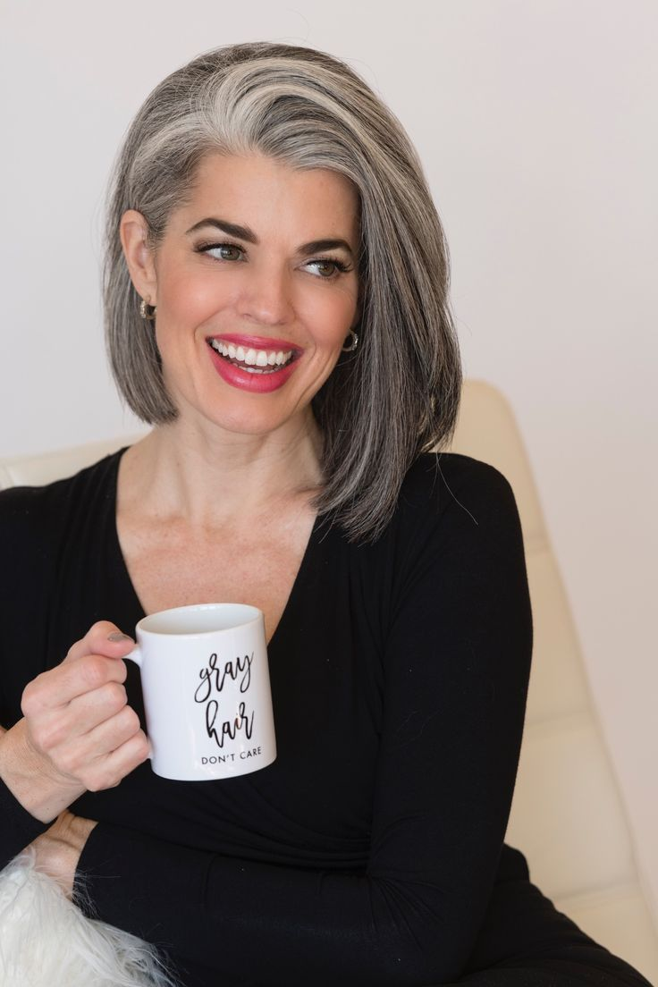 Gray Hair Don't Care Baby! Rock your Gray Hair journey and NEVER look back.