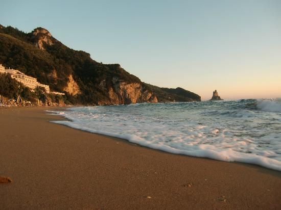 Agios Gorios, beautiful sandy beach