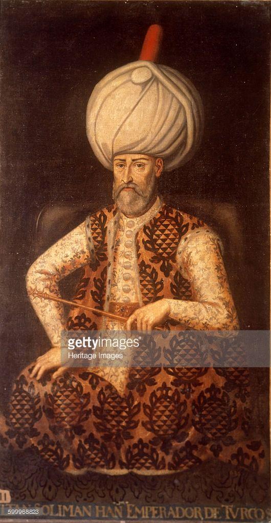 Sultan Suleiman I the Magnificent, 17th century. Found in the collection of Palacio del Senado de España, Madrid. Artist : Anonymous.