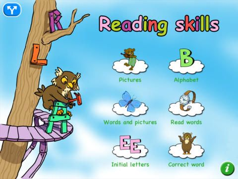 Early reading skills app.