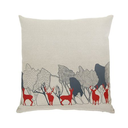 Orwell and Goode Day Woods: Red Stag Cushion £55