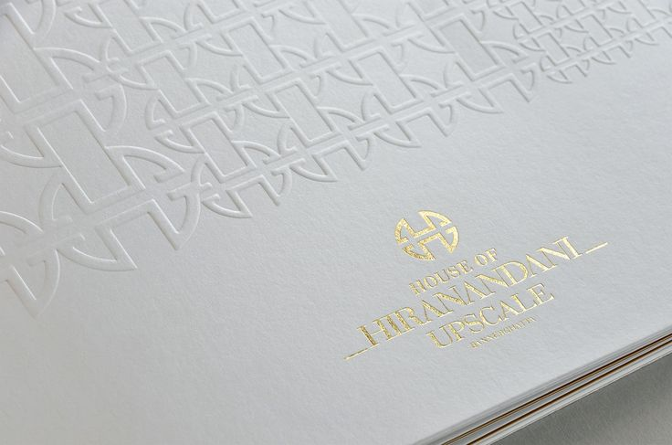 Brochure Cover for Indian property development. Finishing: Gold foil with blind emboss.