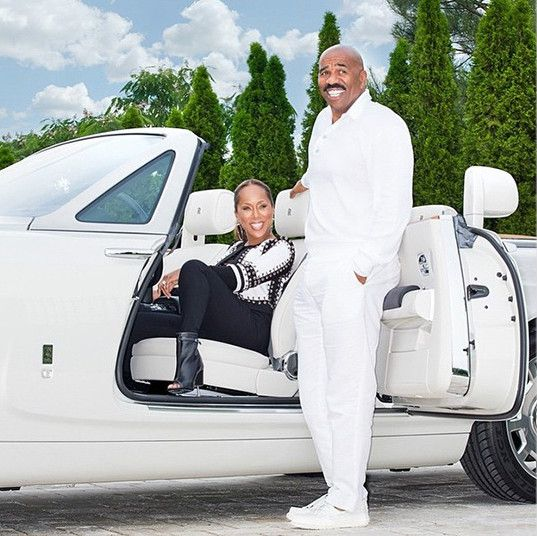 Photos From Steve Harvey And Wife Marjorie Wedding Anniversary