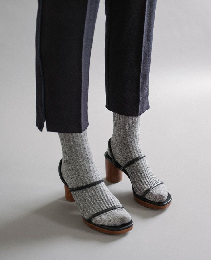 Tread lightly. A touch of subtle luxury in the form of mesh and cashmere socks. Pair with statement sandals from Creatures of Comfort, Maryam Nassir Zadeh and Robert Clergerie to ease the transition from winter to spring. Shop now.