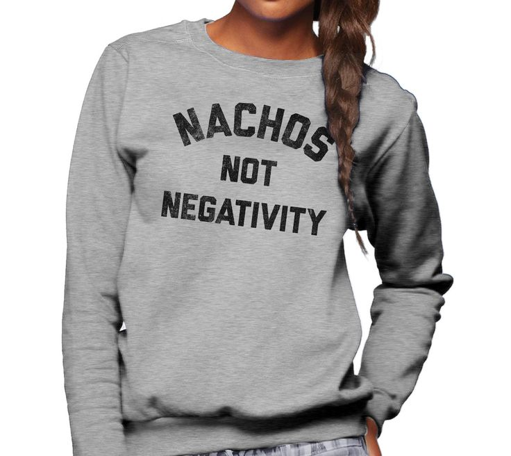 Usher in positive vibes with this funny foodie shirt. Replace bad vibes with guacamole, cheese and chips. Mexican food + good vibes only, please! Shirt Info: - soft, cozy 75% ring spun cotton/25% poly