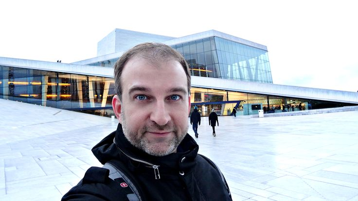 Tired but happy climbing on top of The Oslo Opera House. What an amazing architecture!   #Oslo #Operahuset #national #opera #ballet #theatre #Norway #culture #building #Bjørvika #Oslofjord #architecture #design #glass #marble #granite #water #photography #selfie #selfiesunday