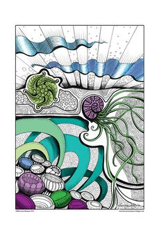 The Ocean Awakes - Printable Colouring Page for Adults and