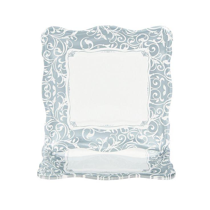 Silver Swirl Wedding Dinner Plates - OrientalTrading.com