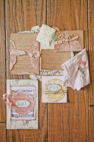 Beautiful vintage inspired wedding invitations, Intimate Chic Wedding at Westlake Village Inn - Style Me Pretty