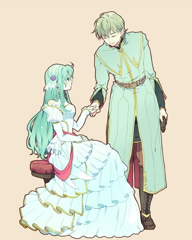 """And I shall forever remain by your side, Queen Eirika..."" (Innes/Eirika) : FireEmblemHeroes"