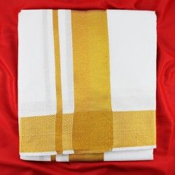 Dhoti with shawl - golden border