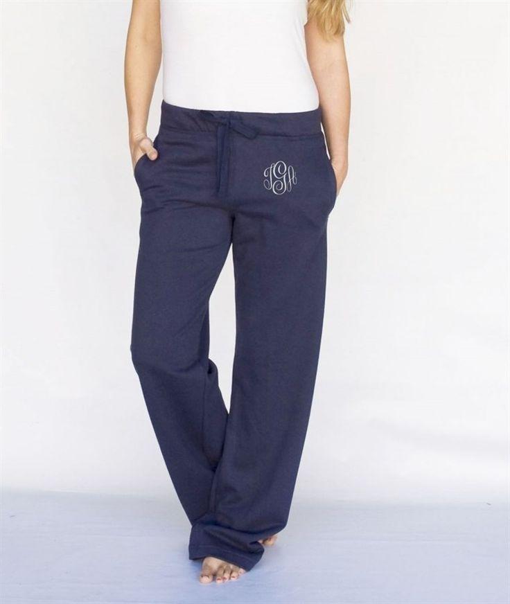 Monogrammed Boyfriend Sweatpants | 4 Styles!