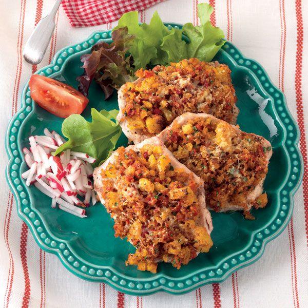 Recept: Haaskarbonade met paprikapanade en ansjovis - La Cucina Italiana