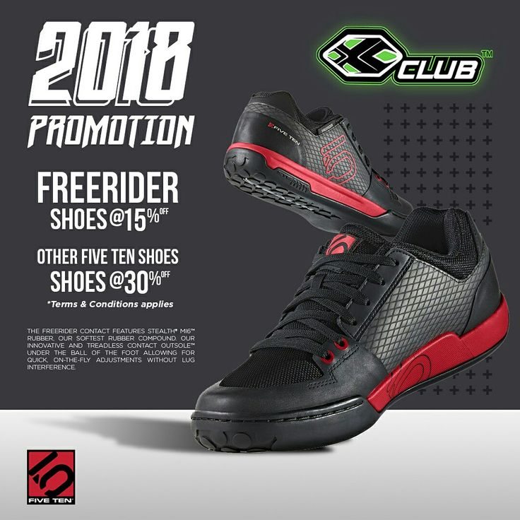 Indonesia 2018 Promotion  Get 15% discount for Five Ten Freerider Shoes and 30% discount for other Five Ten shoes   https://tinyurl.com/y7nks9r5 … … … … …  #xtremerated #xclub #fiveten #shoes #mtb #Indonesia