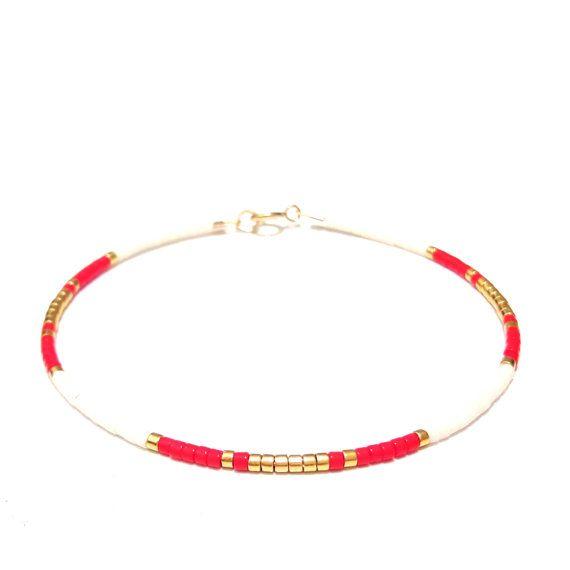 Fine Bracelet dainty bracelet gold seed bead bracelet Gold Beaded Bracelet friendship bracelet – Pulseras