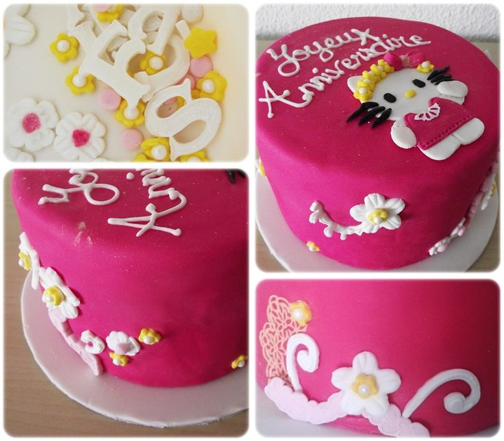 Gâteau Hello Kitty fleuri !