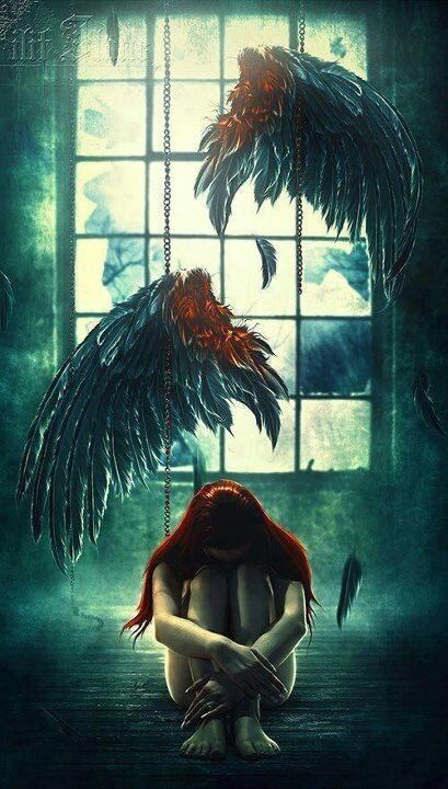 """""""And never once could she forget the feel of those wings being torn off her back and if ever she did there were those ever-bleeding wounds to remind her..."""""""