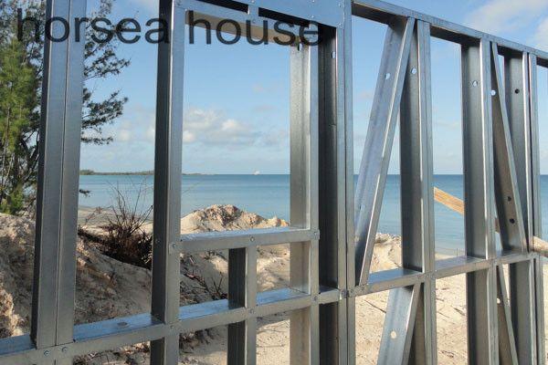 steel #villa frame steel construction house