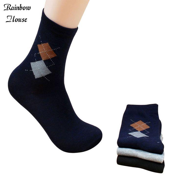New 2017 Cheap Socks Cotton Men Fashion In Tube Men Thin Socks Casual Classic Diamond Male Socks Size 10pcs=5pairs/lot