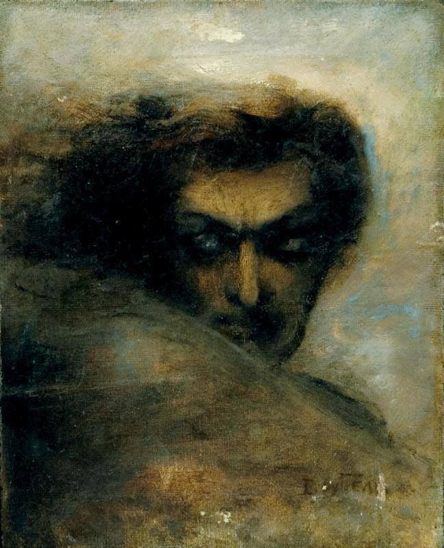 Mikhail Aleksandrovich Vrubel-Head of Demon(1890)