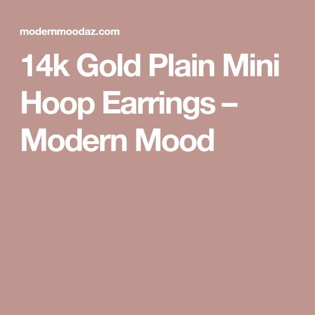 14k Gold Plain Mini Hoop Earrings – Modern Mood