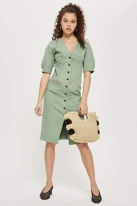 9b0effd6afb Shop for Topshop Washed twill seam midi shirt dress at ShopStyle.com ...